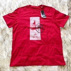 Adidas TMAC Logo Basketball T shirt Scarlet